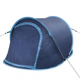 vidaXL Pop-Up-Zelt für 2 Personen Marineblau/Hellblau