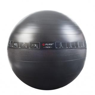 Pure2Improve Gymnastikball 75 cm Schwarz