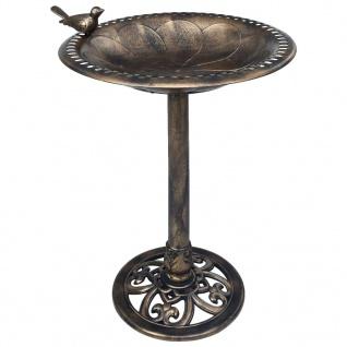 vidaXL Vogelbad Bronzen Kunststoff