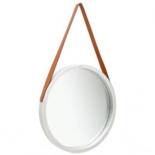 vidaXL Wandspiegel mit Riemen 50 cm Silbern