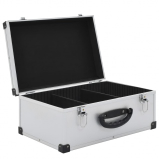 vidaXL CD-Koffer für 60 CDs Aluminium ABS Silbern - Vorschau 5