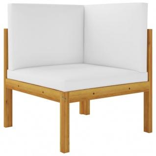 vidaXL 2-Sitzer-Gartenbank mit Kissen Massivholz Akazie - Vorschau 2