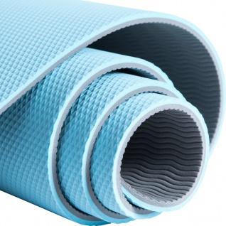 Pure2Improve Yogamatte 173×58×0, 6 cm Blau und Grau - Vorschau 5