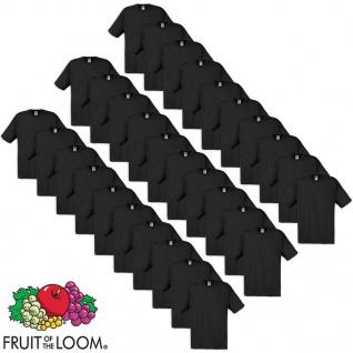 Fruit of the Loom Original T-Shirts 30 Stk. Schwarz S Baumwolle