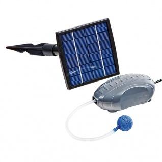 HEISSNER Luftpumpe und Solarpanel Set 120 L/h