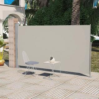 Terrassenmarkise Seitenmarkise 160 x 300 cm Creme