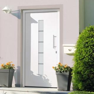 vidaXL Haustür Aluminium und PVC Weiß 100x200 cm
