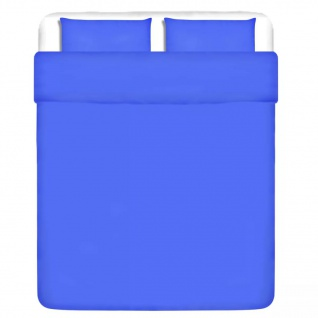 vidaXL 3-tlg. Bettwäsche-Set Baumwolle Blau 200x200/60x70 cm