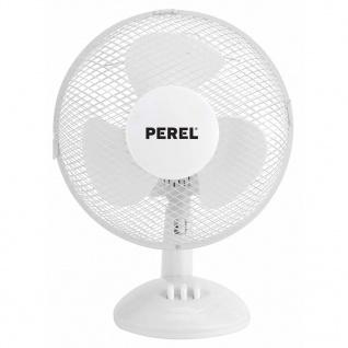 Perel Tischventilator 23 cm 20 W Weiß CFAN0325N