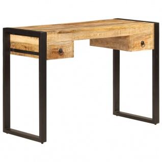 vidaXL Schreibtisch mit 2 Schubladen 110 x 50 x 77 cm Mangoholz Massiv