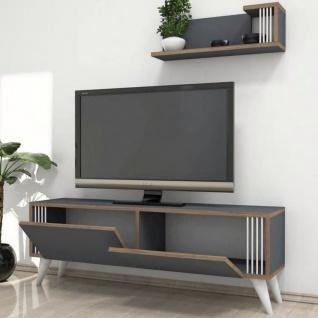 Homemania TV-Schrank Nicol 120x31x42 cm Anthrazit - Vorschau 4