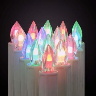 vidaXL Kabellose LED-Weihnachtskerzen mit Fernbedienung 30 Stk. RGB