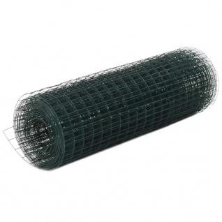 vidaXL Drahtzaun Stahl mit PVC-Beschichtung 25x0, 5 m Grün