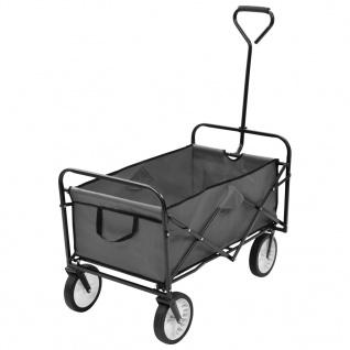 vidaXL Klappbarer Handwagen Stahl Grau