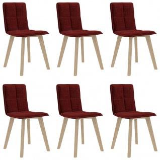 vidaXL Esszimmerstühle 6 Stk. Weinrot
