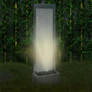 vidaXL Gartenbrunnen Silbern 46x24x150 cm Edelstahl