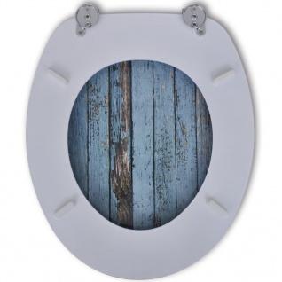 Toilettensitz WC-Sitz MDF Holz Design - Vorschau 3
