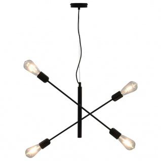vidaXL Deckenleuchte mit Glühlampen 2 W Schwarz E27