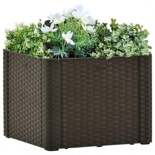 vidaXL Garten-Hochbeet mit Selbstbewässerungssystem Mokka 43x43x33 cm