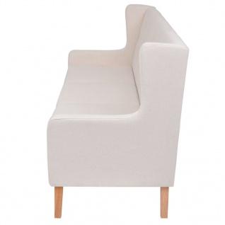 vidaXL Sofa-Set 2-tlg. Stoff Cremeweiß - Vorschau 5