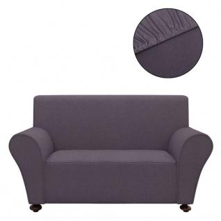 vidaXL Sofahusse Sofabezug Stretchhusse Anthrazit Polyester-Jersey