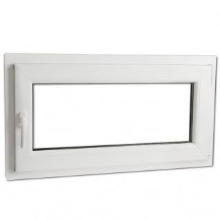 Dreifach Verglast PVC Drehkippfenster+Griff (linke Seite) 900x500mm