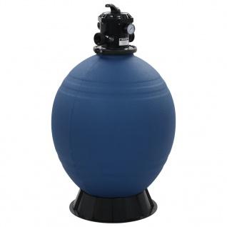 vidaXL Pool-Sandfilter mit 6-Wege-Ventil Filterkessel Blau 660 mm