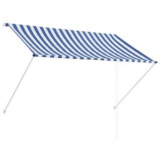 vidaXL Einziehbare Markise 200 x 150 cm Blau und Weiß