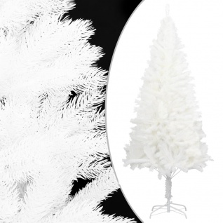 vidaXL Künstlicher Weihnachtsbaum mit Ständer Weiß 150 cm PE