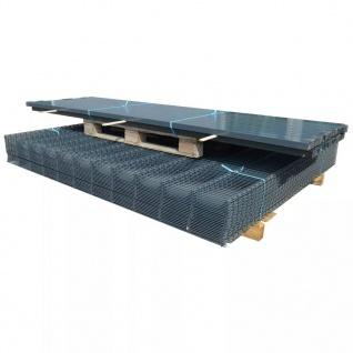 vidaXL Doppelstabmattenzaun Gartenzaun & Pfosten 2008x2230 mm 6 m Grau