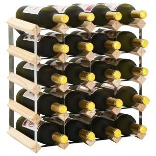 vidaXL Weinregal für 20 Flaschen Massivholz Kiefer