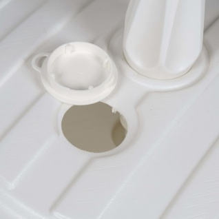 EDA Sonnenschirmständer Kunststoff Weiß - Vorschau 2