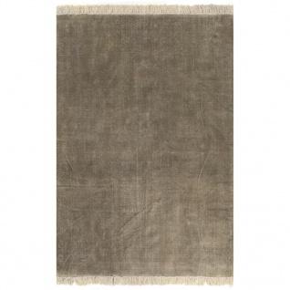 vidaXL Kelim-Teppich Baumwolle 120x180 cm Taupe