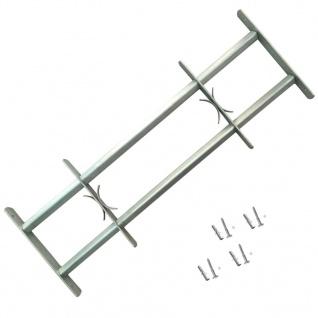 vidaXL Fenstergitter Verstellbar mit 2 Querstäben 1000-1500 mm