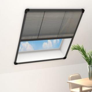 vidaXL Insektenschutz-Plissee für Fenster Alu Anthrazit 110x160cm
