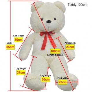 XXL Weicher Plüsch-Teddybär Weiß 100 cm - Vorschau 5