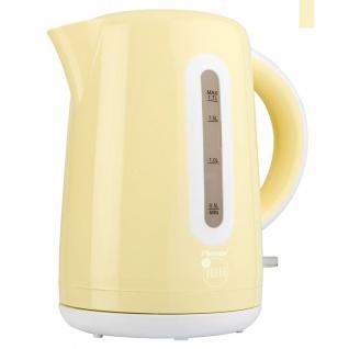 Bestron Elektrischer Wasserkocher 1, 7 L 2200 W Vanilla AWK300EVV