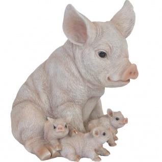 Esschert Design Schwein mit Ferkeln 19, 4×22, 3×24, 3 cm