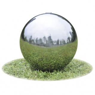Garten-Springbrunnen Sphere mit LEDs Edelstahl 40 cm