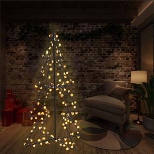 vidaXL Weihnachtskegelbaum 160 LEDs Innen und Außen 78 x 120 cm