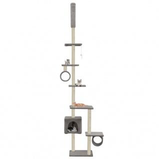 vidaXL Katzenbaum mit Sisal-Kratzsäulen 260 cm Grau