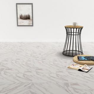 vidaXL PVC Laminat Dielen Selbstklebend 5, 11 m² Weißer Marmor