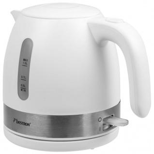 Bestron Elektrischer Wasserkocher 2150 W 1 L Weiß AWK1000W - Vorschau 3