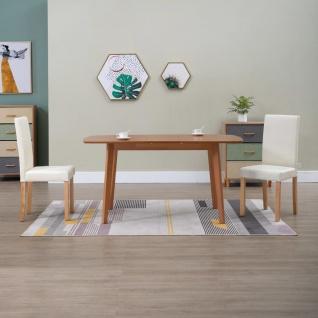 vidaXL Esszimmerstühle 2 Stk. Creme Kunstleder