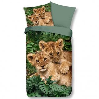 Good Morning Kinder-Bettwäsche-Set LION CUBS 135x200 cm Mehrfarbig