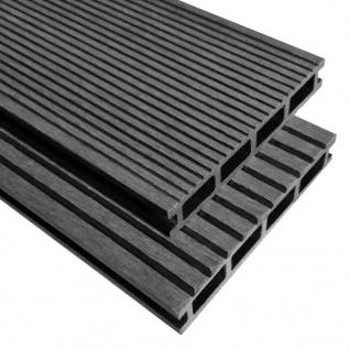 vidaXL WPC Terrassendielen mit Montagezubehör 30 m² 2, 2 m Grau