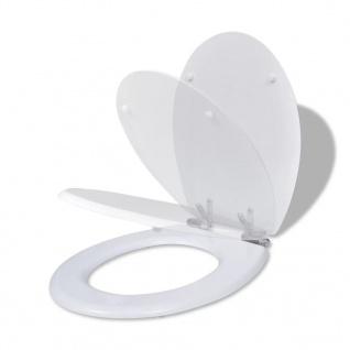 WC Sitz Toilettendeckel Toilette Deckel Absenkautomatik weiß