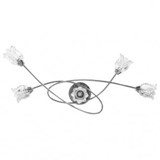 vidaXL Deckenleuchte mit Glas-Lampenschirmen für 5 G9-Leuchtmittel - Vorschau 5