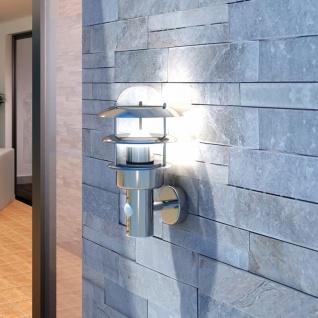 40704 Patio LED Wandleuchte Lampe Edelstahl