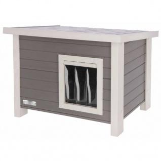 Kerbl ECO Katzenhaus Eli 57×45×43 cm Grau und Weiß